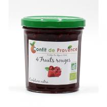 Confit de Provence - Confiture Extra 4 Fruits Rouges BIO 370g