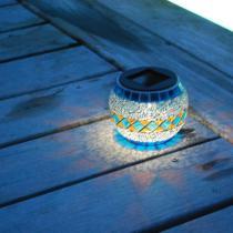Galix - Solarleuchte Mosaik - blau orange