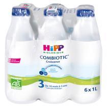 Hipp - Pack Lait de croissance biologique, 6x1L, dès 10 mois