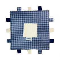 Keptin-Jr - Doudou Carré à étiquettes Bleu
