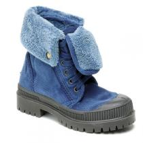 Natural World - Bota Cuello Kids indigo