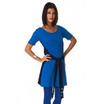 Tudo Bom - Vestito bicolore Donna LOUISE - Blu