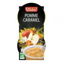 Vitabio - Dessert de fruits Pomme-Caramel-Vanille, 2x120g, de Vitabio