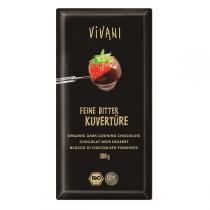 Vivani - Bio Feine Bitter Kuvertüre 200g