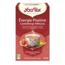 Yogi Tea - Thé noir Energie Positive Hibiscus Canneberges 17 sachets