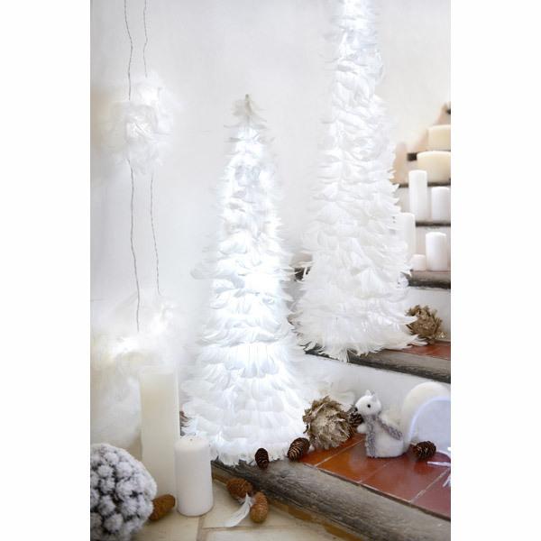 Blachere Illumination - Albero di Natale Piume bianche 80cm