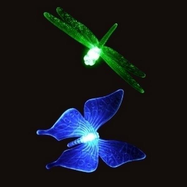 Zen' Light - Lampes de jardin solaires Libellule + papillon