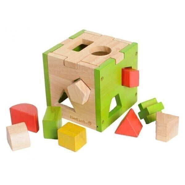 EverEarth - Cube des formes géométriques - dès 18 mois