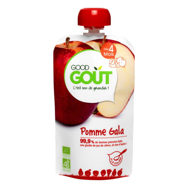 Good Gout - Gourde pomme gala 120g
