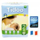 Tidoo - 64 Disposable Night & Day Nappies - Size 2 Mini 3-6kg
