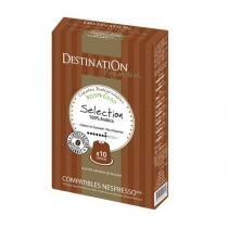 Destination - Café sélection Pur arabica - 10 capsules