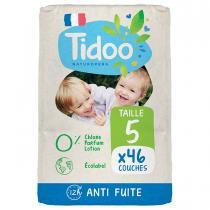 Tidoo - 46 Couches T5 12-25kg Hypoallergéniques Nature