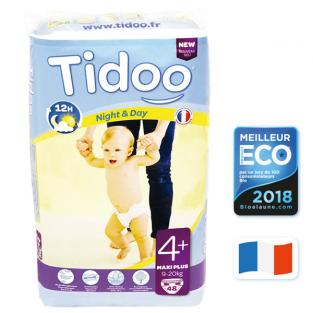 Tidoo - 48 Disposable Night & Day Nappies - Size 4+ Maxi+ 9-20kg