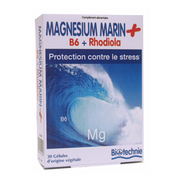 Biotechnie - Magnésium marin stress - 30 gélules