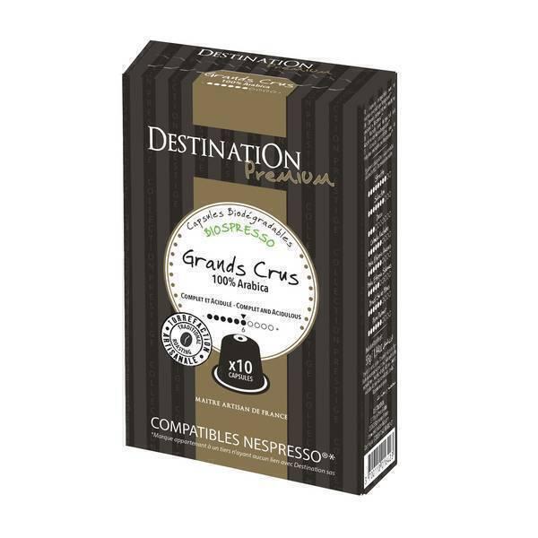 Destination - Café Les grands Crus Bio x10 Cápsulas