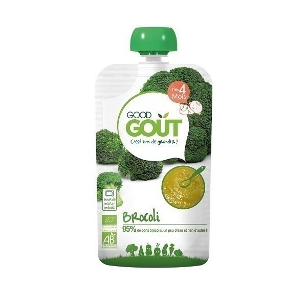 Good Gout - Gourde bio brocoli, 120g