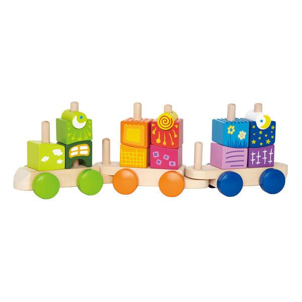 Hape - Train fantaisie avec blocs à empiler - Dès 2 ans