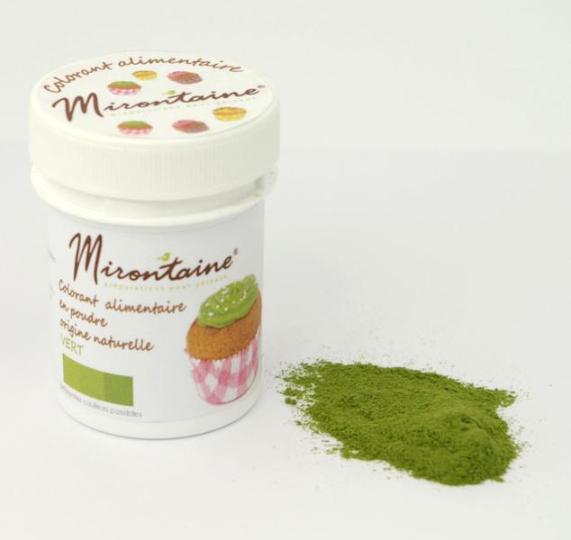 Mirontaine - Colorant origine naturelle bio Vert 10g