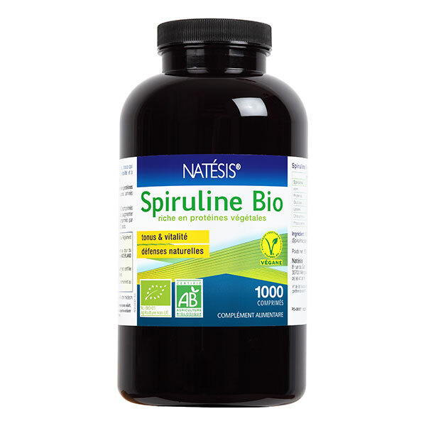 Natésis - Spiruline Bio - 1000 comprimés