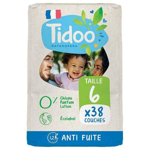 Tidoo - 38 Couches T6 16-30kg Hypoallergéniques Nature