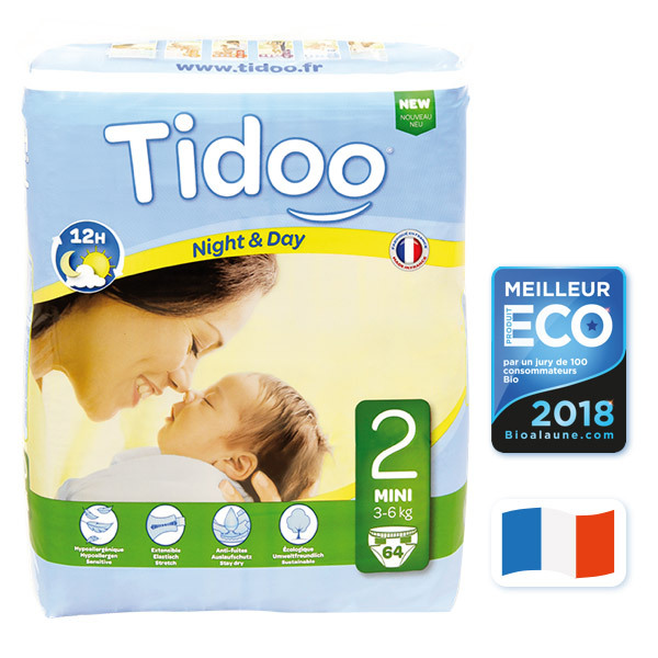 Tidoo - 64 Couches Ecologiques T2-S - 3-6kg