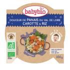 """Babybio - Assiettes """"Bonne nuit"""" dès 12 mois, saveur Panais Riz Carottes"""