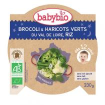 Babybio - Assiette Bébé Légumes verts Riz 230gr