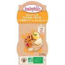 Babybio - Bols Biscuités Pomme Pêche Abricot 2x120g