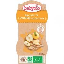 Babybio - Bols Biscuités Pommes dès 6 mois 2x120g