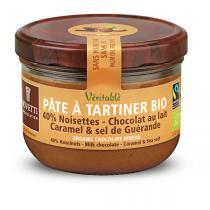 Bovetti Chocolats - Pâte à tartiner noisette, chocolat lait, caramel & sel 200g
