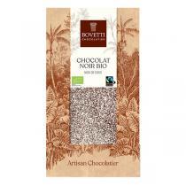 Bovetti Chocolats - Tablette chocolat noir à la noix de coco 100g