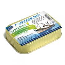 Capitaine Nat - Sardines huile d'olive pastis bio 115gr