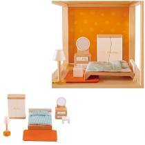 Hape - Chambre des parents - Meubles maison de poupée