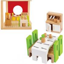 Hape - Salle à manger - Meubles maison de poupée