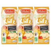 Vitabio - Lot de 3 Boissons Fruit Kid'z Pomme Mangue Acérola 20cl