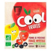 Vitabio - Compote Cool Fruits Pomme Fraise Myrtille 4x90g