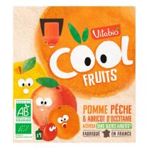 Vitabio - Compote Cool Fruits Pomme Pêche Abricot 4x90g