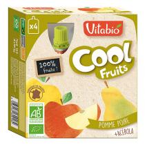 Vitabio - Compote Cool Fruits Pomme Poire Williams 4x90g