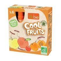 Vitabio - Compote Cool Fruits Pomme Pêche Abricot 4x90g
