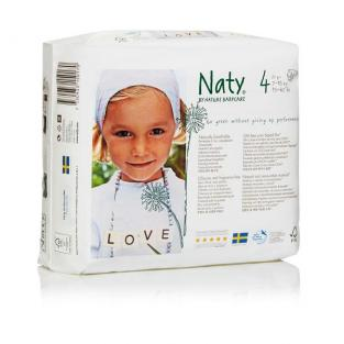 Naty by Nature Babycare - Couches Eco Maxi 7/18 kg, 27 couches