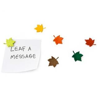 QUALY Design - 6 Leaf a Message Magnets