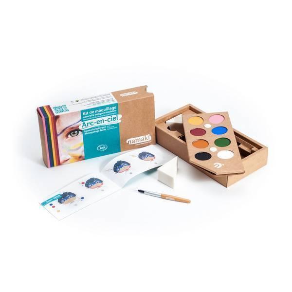 """Namaki - Kit maquillage 8 couleurs """"Arc-en-ciel"""""""