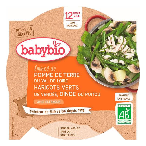 Babybio - Assiette Haricots verts Dinde 230gr