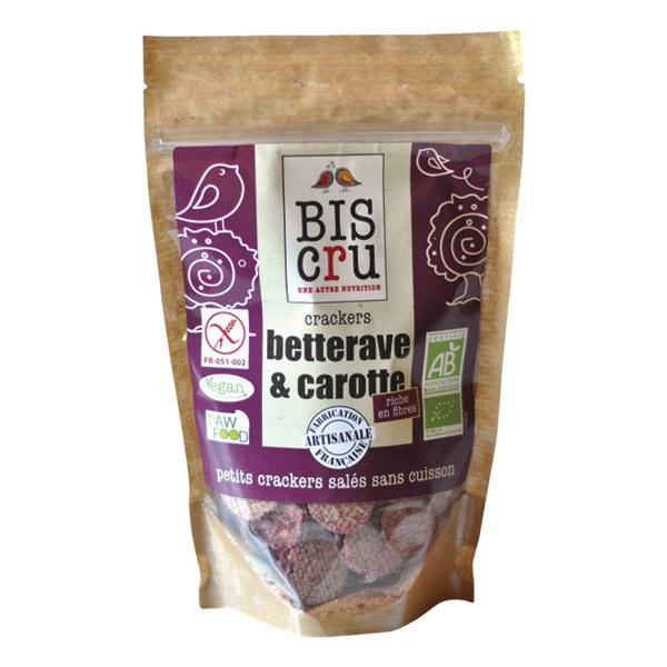 Biscru - Crackers Betterave Carotte 70 g
