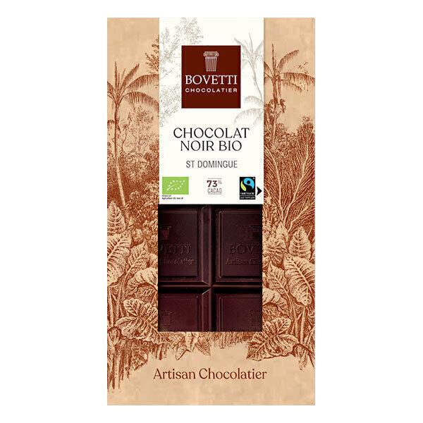 Bovetti Chocolats - Tablette chocolat noir 73% 100g