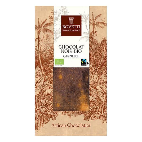 Bovetti Chocolats - Tablette chocolat noir à la cannelle 100g