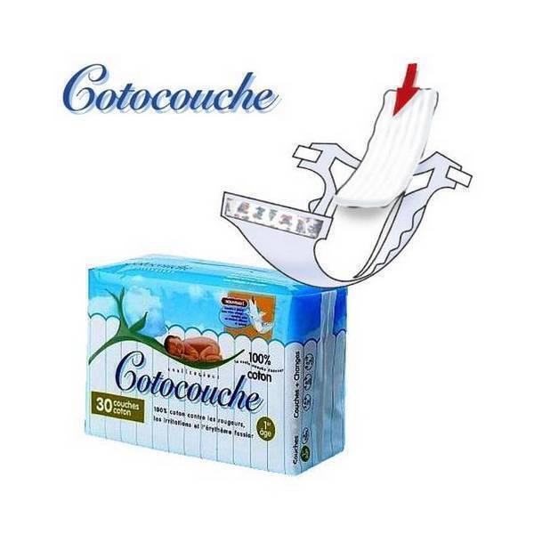 Cotocouche - 30 Cotocouche Cotton Nappy Liners - 0-4 Months