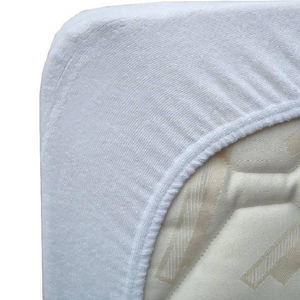 Eveil & Nature - Alèse en coton Blanc 60x120 cm