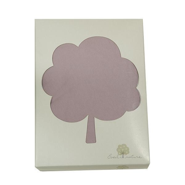 drap housse coton bio bois rose 70x140cm eveil nature. Black Bedroom Furniture Sets. Home Design Ideas