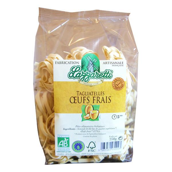 Lazzaretti - Tagliatelles aux oeufs frais Bio 250g